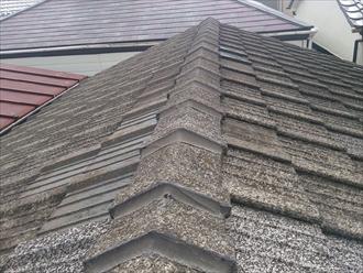 立川市富士見町で古くて重いセメント瓦から軽いガルバリウム鋼板へ葺き替え工事