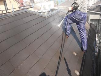 国分寺市新町で築14年で初めてのスレート屋根塗装