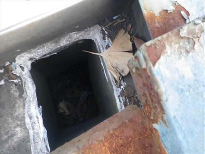 国立市青柳にて雨漏りの原因だったのは瓦棒葺き屋根の軒先の箱樋でした