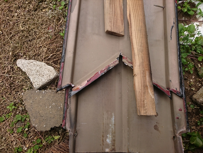 西東京市緑町で強風により飛散した棟板金を火災保険で直します