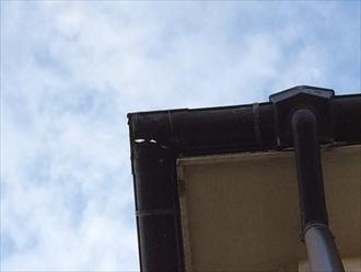 軒樋コーナーの割れ拡大