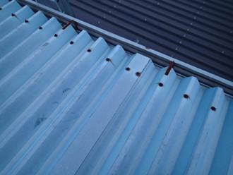 調布市柴崎 折板屋根からの雨漏り