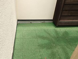 調布市富士見町 防水工事を行うバルコニー