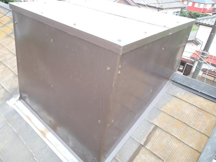 三鷹市下連雀で屋根の煙突からの雨漏り補修を実施