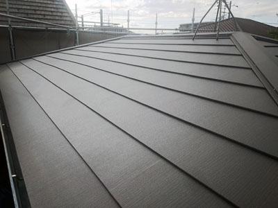 葺き替え後のスレート屋根