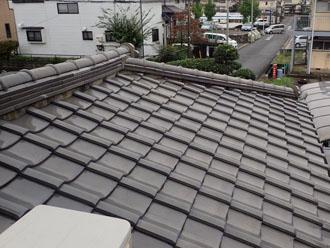 雨漏りしていた瓦屋根