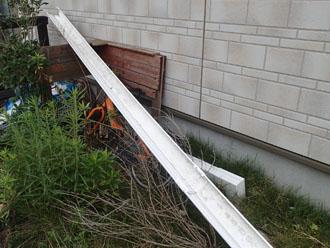 落下してきた雨樋の数々