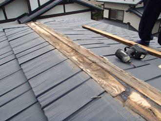 貫板の下の防水紙の劣化