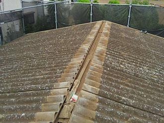 棟がなくなった屋根の頂点