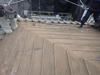葺き土を取り除く
