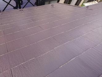 塗装してあるスレート屋根