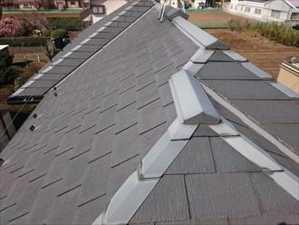 築10年のスレート葺きの屋根