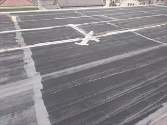 工事前の屋上防水