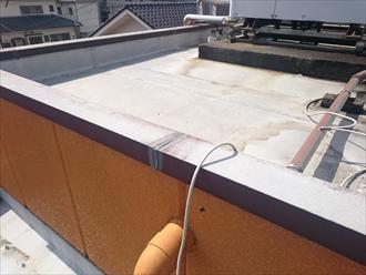 屋上の一部は防水になっています