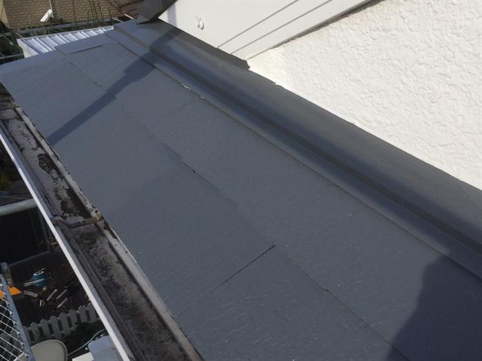 スレート屋根補修工事完了