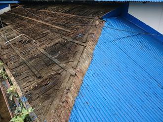 昭島市武蔵野で昔ながらのとんとん葺き屋根の葺き替え工事