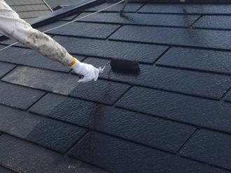 国立市西でフッ素塗料の一液ファイン4Fルーフを使った屋根塗装を実施