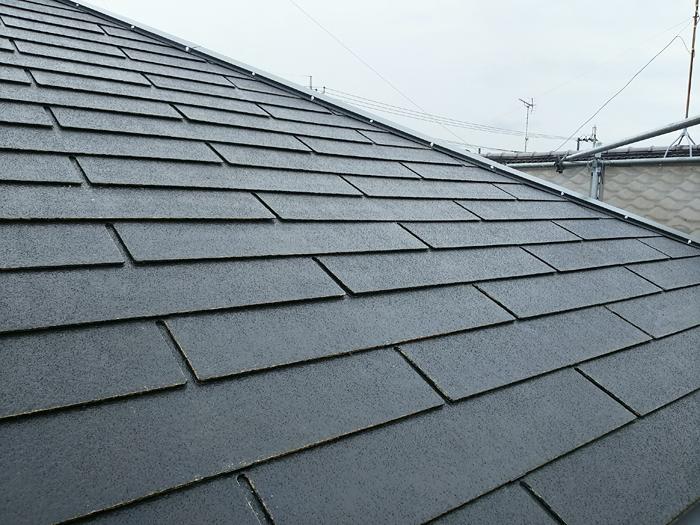 1液ファイン4Fルーフによる屋根塗装完了