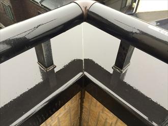 武蔵野市八幡町で屋根の調査、笠木も屋根と同じ役割なので一緒に調査します
