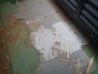 過去のFRP防水層
