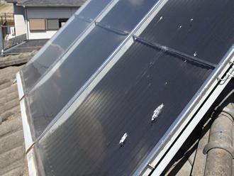 武蔵野市境で太陽熱温水器撤去と棟取り直し(漆喰)工事