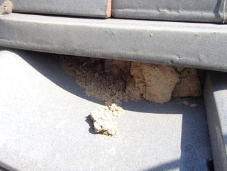 葺き土の流出