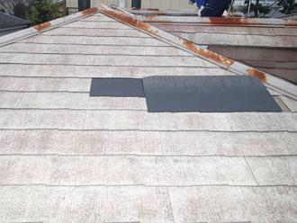 東久留米市学園町でアパートの化粧スレートを屋根塗装前点検