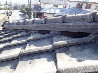棟取り直しを行ったのセメント瓦屋根
