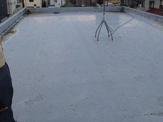 雨漏りしていたシート防水の陸屋根