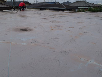 雨漏りしていたウレタン防水の陸屋根