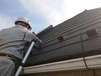 保険会社の方と屋根点検