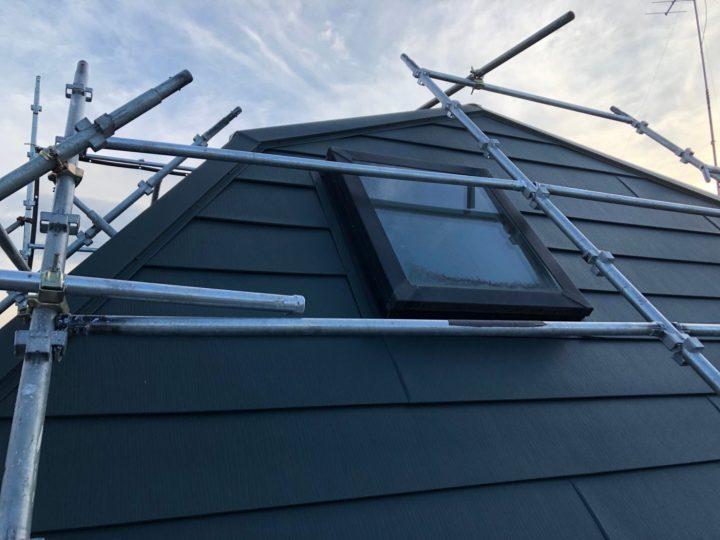 屋根カバー工法、竣工
