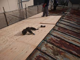 構造用合板の取り付け