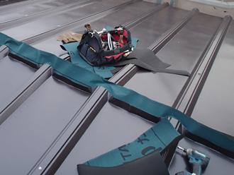 屋根材の取り付け完了