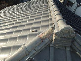 豊島区長崎で台風で壊れた瓦屋根の調査、棟の積み直しをお勧めしました