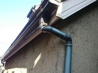 集水器と呼び樋の外れ