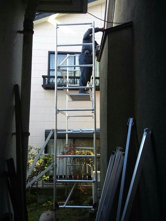 一階の集水器の外れ応急処置