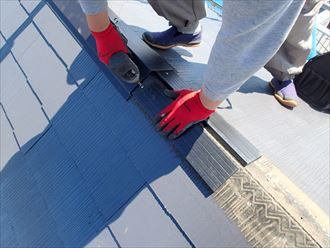 樹脂製貫板設置
