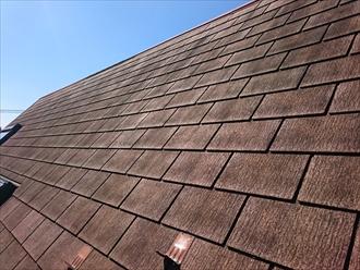 西東京市新町で急勾配のスレート葺き屋根を塗装工事にてメンテナンス