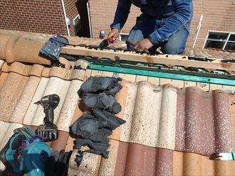 乾式工法の棟解体