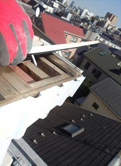 豊島区雑司ヶ谷で鳥が巣を作ろうとしている屋根の調査に伺ったら一部が剥がれていました