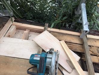 野地板の垂木も新しくします