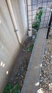 雨水の排水部分
