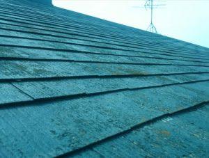 苔の生えた北側の屋根