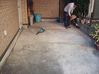 ポリカ清掃