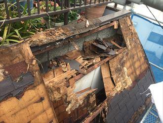 屋根の内側の腐食