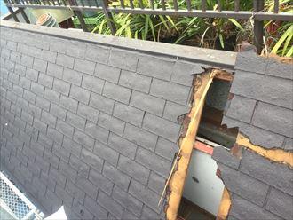 屋根の中の状況
