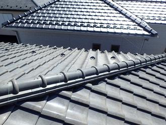 日野市新町 屋根葺き替え前の瓦屋根