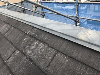 高圧洗浄で汚れが取れた屋根