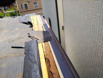 軒先の木材の腐食